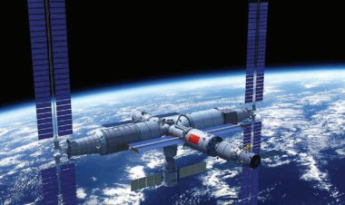 Artist impression of the Chinese Space Station – an 80-metric-ton modular Mir-class outpost in low Earth orbit. Credit: China Manned Space Agency