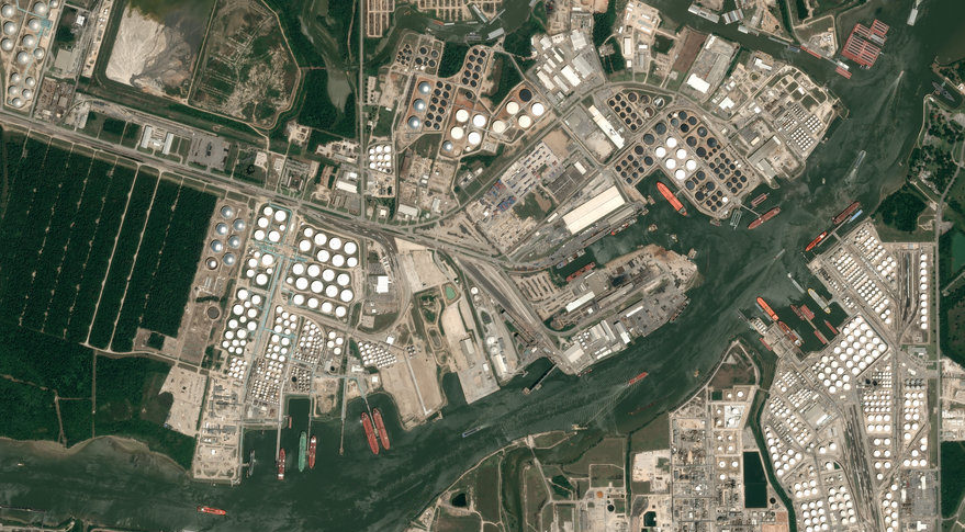 This is an Airbus satellite image of Houston, Texas. Credit: Airbus