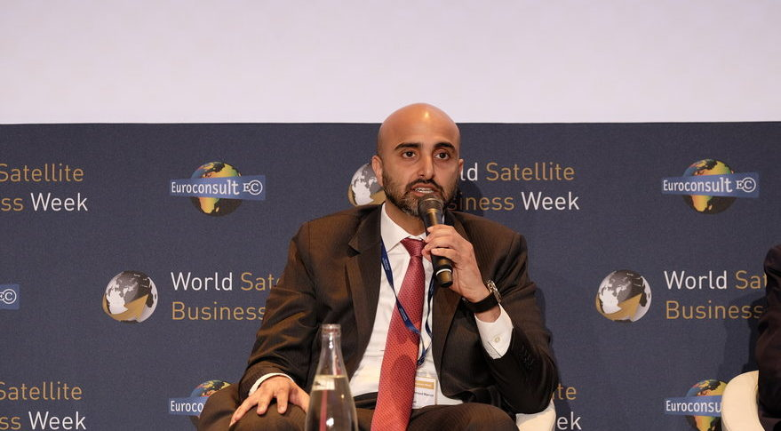 Masood M. Sharif Mahmood, Yahsat chief executive, said Yahsat sees a silver lining in Brazil's economic woes. The firm had to re-price some contracts, but customers  signed long-term agreements because they could lock-in favorable rates. Credit: SpaceNews/Brian Berger