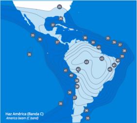 Amazonas-3 C-band coverage. Credit: Hispasat