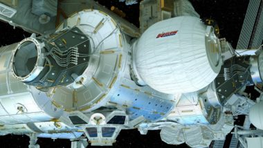 The International Space Station expanded its commercial credentials when it hired Bigelow Aerospace to provide an inflatable storage module for the orbital outpost. Credit: NASA illustration
