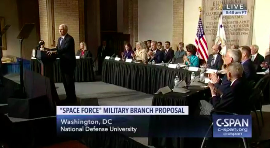 Pence Says U.S. Aims To Create New Space Force By 2020