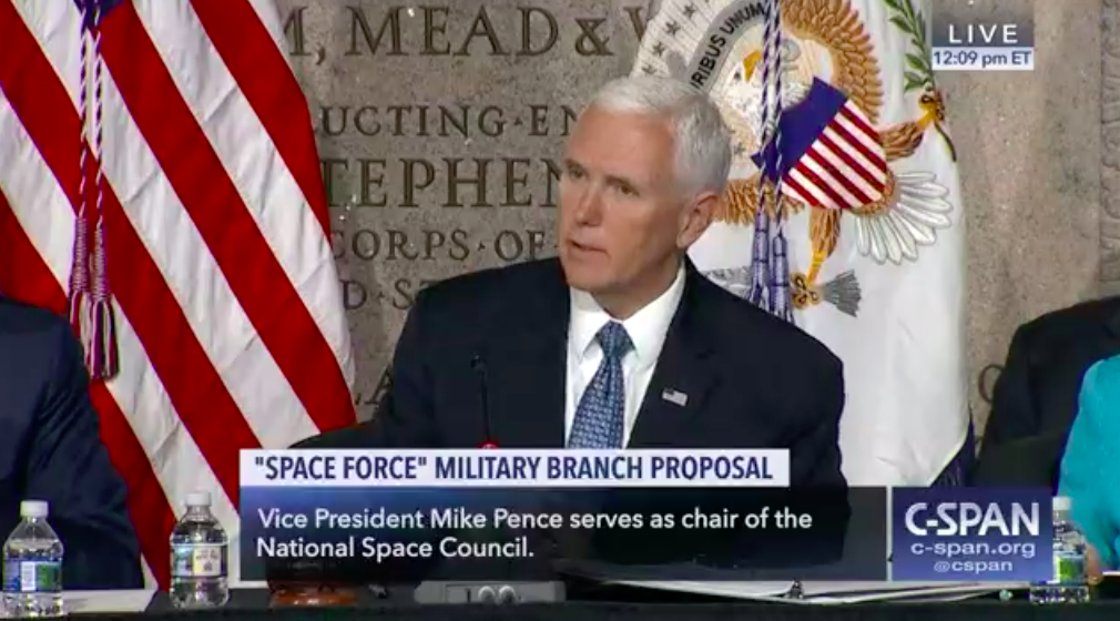 Pence leaves open possible use of nuclear arms in space