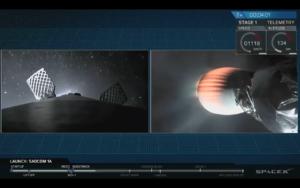 spacex launches argentine satellite posts first ground landing on west coast
