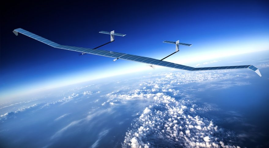 Airbus' high-endurance Zephyr UAVs are designed to complement remote-sensing satellites by providing persistent coverage over a limited geographic area. Credit: Airbus