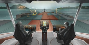 Rolls-Royce developed this concept for bridge operations of remote cargo vessels with Finland's VTT Technical Research Centre. Credit: Rolls-Royce