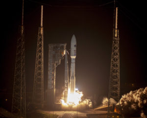 atlas 5 rocket lifts off from cape canaveral deploys air force satellite