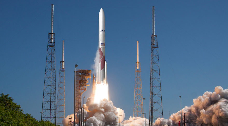 Artist's concept of United Launch Alliance's Vulcan rocket lifting off.