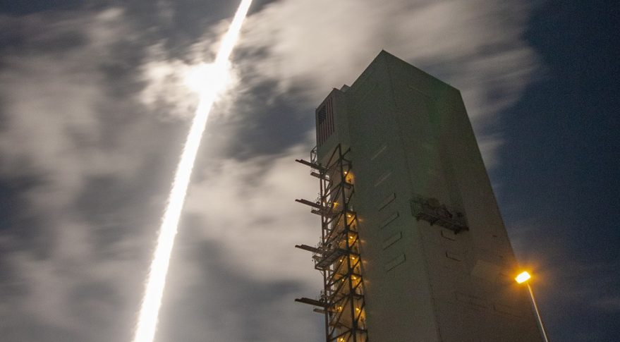 The U.S. Air Force's AEHF-4 satellite lifts off from Cape Canaveral Air Station, Florida, Oct. 17 aboard a United Launch Alliance Atlas 5 rocket. Credit: United Launch Alliance