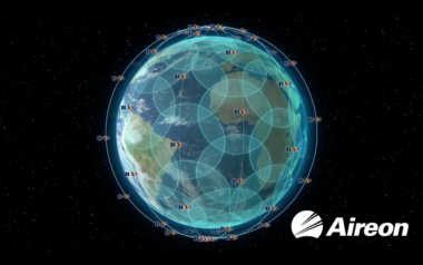 Aireon's hosted payload network is carried on the Iridium Next constellation. Credit: Aireon