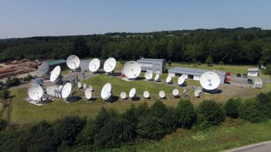 CETel operates a 30-antenna teleport near Bonn and Cologne, Germany. Credit: CETel