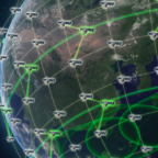 DARPA's Blackjack program will evaluate if national security space missions can use a networked constellation of smallsats in low Earth orbit instead of large, geostationary satellites. Credit: DARPA