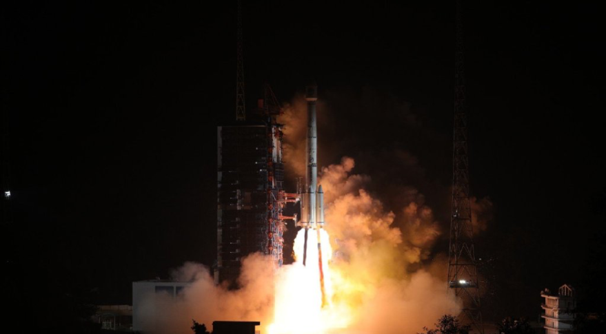 Liftoff of the Long March 3B from Xichang at 2:07 p.m. Eastern Nov. 18, 2018. Credit: CASC