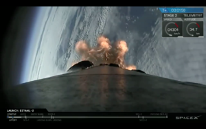 spacex launches es hail 2 satellite ties launch record