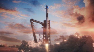 Crew Dragon launch illustration