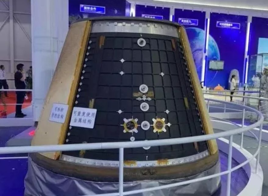 Model of the next-generation return capsule exhibited at Zhuhai Airshow 2018. Credit: CAST