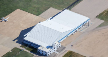 AST&Science plans to produce as many as 100,000 tiny Micron satellites per year in this building at the Midland Air and Space Port. Credit: AST&Science