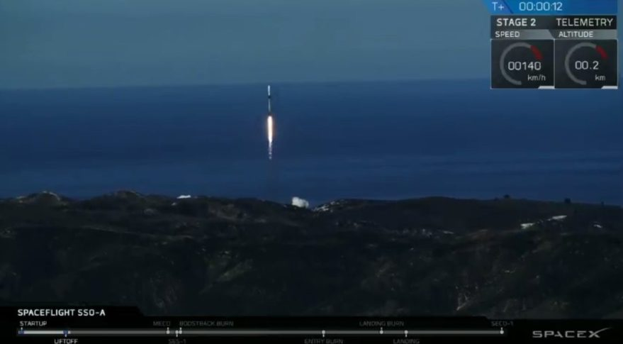 An Air Force Space Test Program Satellite 5 launches aboard Spaceflight Industries' commercial smallsat rideshare mission Dec. 3 on a SpaceX Falcon 9 Credit: SpaceX