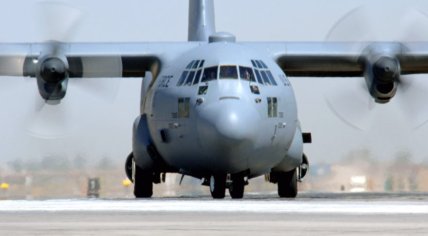A C-130 Hercules FlexAir hatch mount Credit: U.S. Air Force