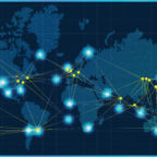Atlas Space Operations operates a cloud-based ground network for satellite downlink as well as telemetry, tracking and control. This image shows  the Atlas Freedom Ground Network's operational and planned sites. Credit: Atlas