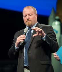 "Jason Crusan, director of NASA's Advanced Exploration Systems Division, says a three stage approach is the best option for a lunar lander. ""If you did a single-stage lander, there isn't a launch vehicle that it can fit on,"" he told a NASA advisory committee Dec. 7. Credit: NASA"