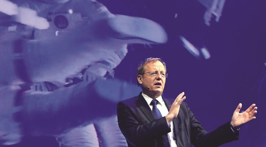 ESA Director General Jan Woerner speaking at the International Astronautical Congress in Bremen, Germany, in October. Credit: IAF via Flickr