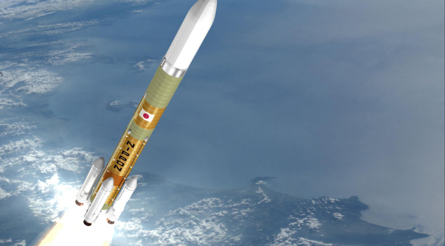 Mitsubishi Heavy Industries Ltd (MHI) H3 launch vehicle in flight
