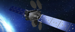 Artist's rendering of a telecom satellite. Credit: Ovzon