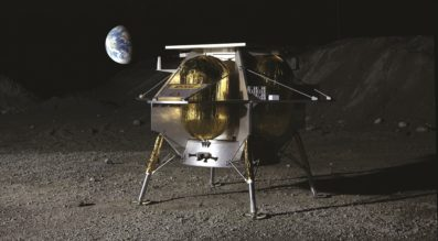 Astrobotic Technology Peregrine 1 lander concept. Credit: Astrobotic Technology