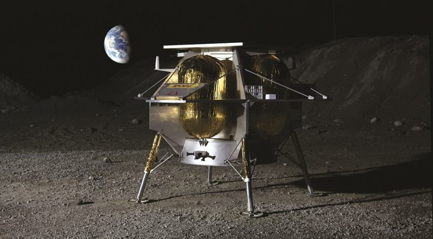 Astrobotic Technology Peregrine 1 lander concept. Credit: Astrobotic Technology