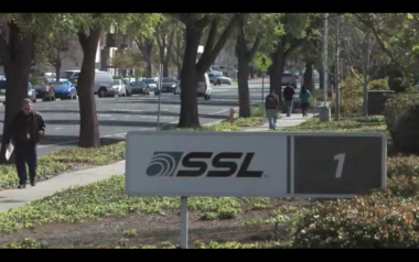 "Maxar sold SSL ""Building 1"" for $70 million and will relocate 400 engineers to another facility. Credit: SSL video still."