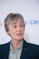 """The dog that didn't bark in the fiscal year 2019 budget was space."" -- U.S. Air Force Secretary Heather Wilson. Credit: Lisa Nipp for SpaceNews"