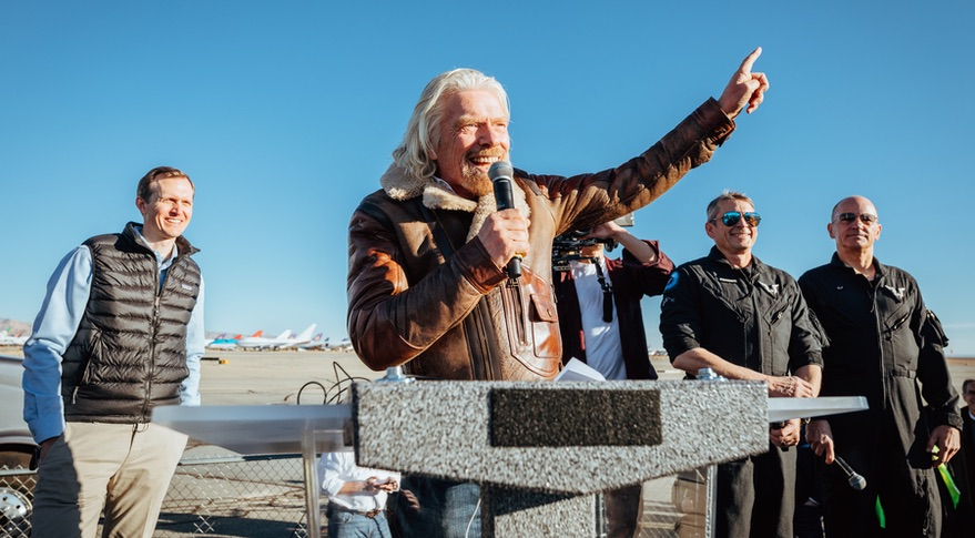 Virgin Galactic sends tourist rocket into space for first time