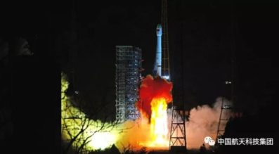 Launch of the Long March 3B rocket carrying Chang'e-4 at 18:23 UTC Dec. 7. Credit: CASC