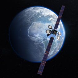Artist's rendition of Global IP's Gisat-1 satellite. Credit: Boeing