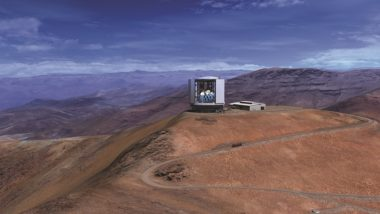 A reproduction of the Giant Magellan Telescope, which is expected to enter service in the 2020s on the Chilean Las Campanas Peak. The proposed US ELT program aims to provide US $ 1 billion in federal funding for GMT and TMT. Credit: Mason Media Inc. via GTMO
