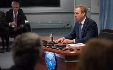 Acting Defense Secretary Patrick Shanahan speaks to reporters at the Pentagon Jan. 29, 2019. Credit: DoD