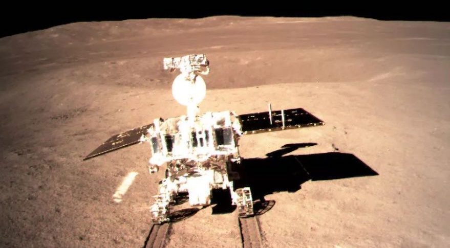 The Yutu-2 rover after deployment on the surface of the lunar farside. Credit: CLEP/CNSA