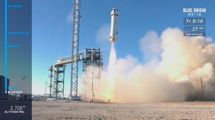 New Shepard liftoff