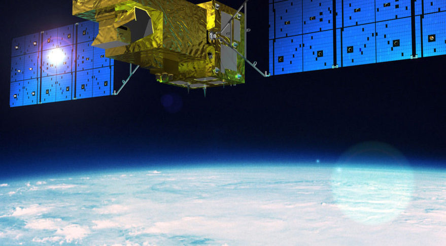 Harris Corp. built the primary carbon observation sensor for Japan's Greenhouse Gases Observing Satellite-2, launched in October on a Mitsubishi Heavy Industries H2A rocket. Credit: JAXA artist's concept