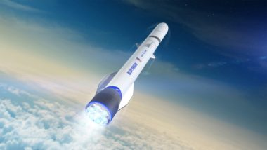 Blue Origin's reusable New Glenn rocket is slated to make its debut in 2021. Launch customers signed to date include Eutelsat, Telesat, Sky Perfect JSAT, OneWeb and Mu Space. Credit: Blue Origin