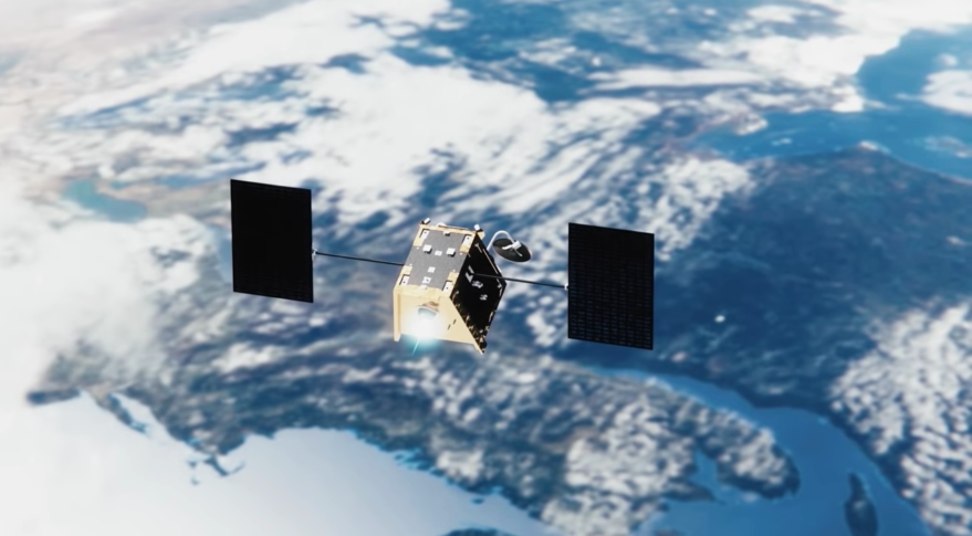 Artist's rendition of a OneWeb satellite in low Earth orbit. Credit: OneWeb Satellites