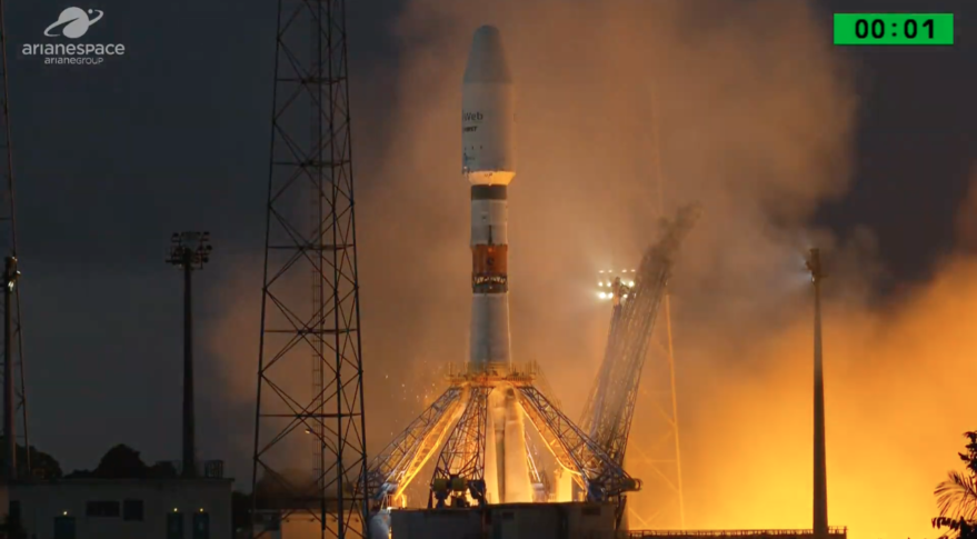 OneWeb's first six satellites in orbit following Soyuz launch