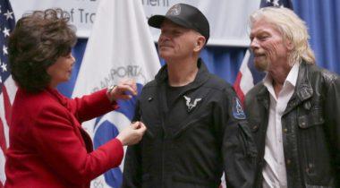 Chao Sturckow Branson astronaut wings