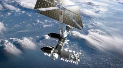 The viability of commercial space stations such as the proposed Axiom Station depend on the availability of commercial crew transportation and the retirement of the International Space Station. Credit: Axiom Space illustration