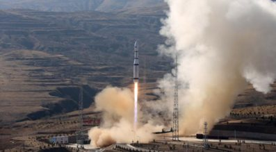 A Long March 6 lifting off at Taiyuan Satellite Launch Center. Credit: Xinhua.