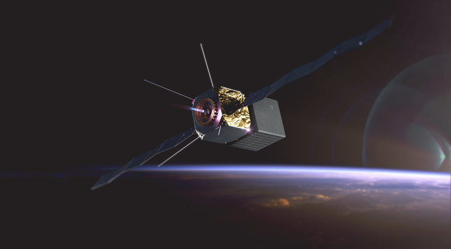 Artist's rendering of Momentus Vigoride moving a satellite to a new location in low Earth orbit. Credit: Momentus