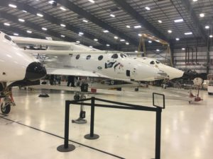 Due to high winds in Mojave, California, Virgin Galactic scrubbed plans for a Feb. 20 flight test of its suborbital spaceplane, SpaceShipTwo. Credit: SpaceNews/Debra Werner