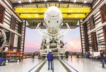 SpaceX plans to reuse the demo-1 Crew Dragon capsule pictured above in January for a test of the vehicle's onboard board system before the flight crewed demo 2 mission only in July. Credit: SpaceX