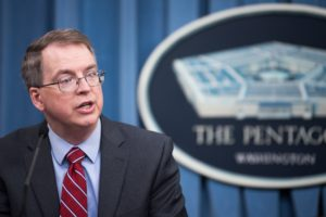 """Future wars will be waged not just in the air, on the land or at sea but also in space and cyberspace, dramatically increasing the complexity of warfare,"" David Norquist, acting deputy secretary of defense, told reporters following the rollout of the Pentagon's budget March 12.   (DoD photo by U.S. Army Sgt. Amber I. Smith)"
